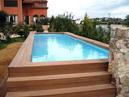 Rectangular Above Ground Swimming Pool Intrepid Oval Pool