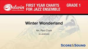 Winter Wonderland Arr Paul Cook Score Sound