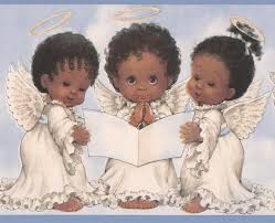 black baby angels in white dress wallpaper border for kids bedroom bathroom roll traditional kids wall decor by euro home decor
