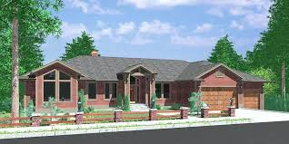 house with rv garage custom ranch house plan w daylight basement and garage house with rv house with rv garage garage plan