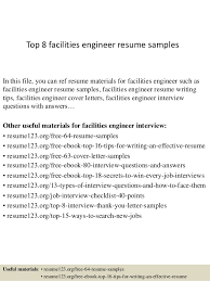 Facility Engineer Sample Resume 22 Maintenance Engineer Resume