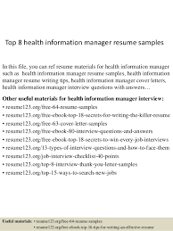 Management Resume Examples Mesmerizing Top 60 Health Information Manager Resume Samples