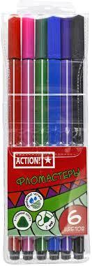 <b>Action</b>! <b>Набор фломастеров</b> 6 цветов — купить в интернет ...