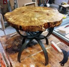 live edge round table
