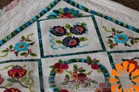 Piece N Quilt: Embroidery Applique Quilt & Thanks Quitique friends for letting me machine quilt another one of your  darling quilts! Adamdwight.com