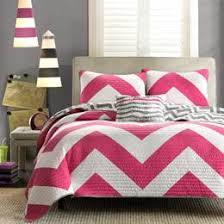 Twin XL Bedding, View XL Twin Bedding, Extra Long Twin Bed Set Sale & Mizone Libra Chevron Pink & Grey Twin-Twin XL Quilt Set Adamdwight.com