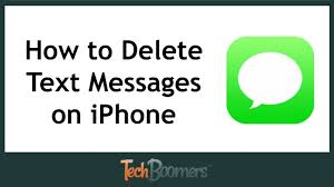 Text Messaes How To Delete Text Messages On Iphone Youtube