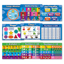 Preschool Number Chart 1 10 Buy Toddler Learning Laminated Poster Kit 10 Educational
