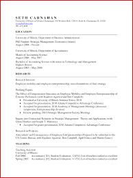 New Academic Curriculum Vitae Template Word Wing Scuisine