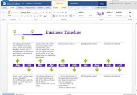 Business Project Timeline Template For Word Online