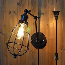 interior wall lighting fixtures. Delighful Interior Kiven E26 Industrial Retro Long Arm Retractable Cage Plug Wall Lamp Cafe  Bar Pub Hotel Club For Interior Lighting Fixtures N