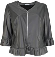 maxima cardigan faux leather