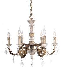 terracotta designs sienna 6 light wood chandelier