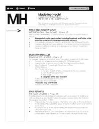Public Relations Cv Example For Marketing Livecareer Public