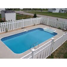 12 x 24 steel rectangle inground swimming pool kit 2 radius corners
