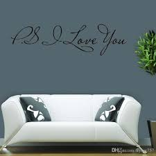 for ps i love you wall quotes decals removable wall stickers decor bedroom sitting room vinyl art diy large vinyl wall decals large wall art decals from  on large vinyl wall decal quotes with for ps i love you wall quotes decals removable wall stickers decor