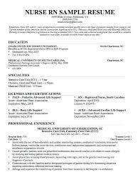 Sample Resume For Registered Nurse Registered Nurse Resume Sample