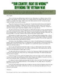 Vietnam And Iraq War Venn Diagram Vietnam War Soldiers Letter Primary Source Reading