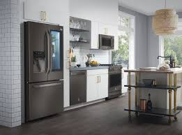 stainless steel appliances. Fine Stainless An Alternative For The Favored Glossy Stainless Steel Slate Has A Matte  Finish Its Gray Color Is Neutral And Blends In With Any Palette Texture To Stainless Steel Appliances N
