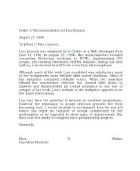 Reference Letter For Job Examples Of References Letters Reference