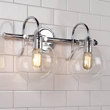 unique bathroom lighting fixture. Retro Glass Globe Bath Light - 2 Unique Bathroom Lighting Fixture M