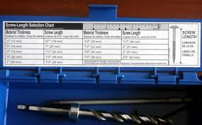 Kreg Screw Guide Chart 26 Genuine Kreg Screw Chart Pdf