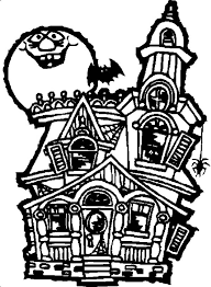 Small Picture Ghost clipart inside haunted house Pencil and in color ghost