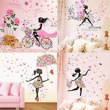 diy wall stickers flowers girl bedroom wall mural decor nursery vinyl decal uk