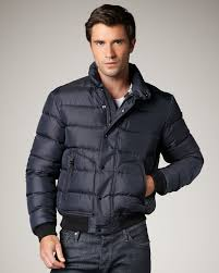 lyst burberry brit puffer jacket navy in blue for men