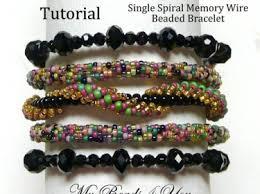 Seed Bead Patterns Simple Single Spiral Memory Wire Bracelet Tutorial Beading Tutorial