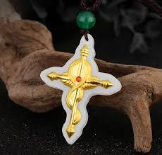 white jade meval cross pendant la