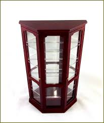 Curio Cabinet Lights Glass Curio Cabinets With Lights Home Design Ideas