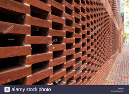 Perforated Brick Wall Design Perforated Brickwork Design Hit And Miss Used On Wall Of