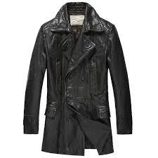 men leather pea coat cw850163 cwmalls com