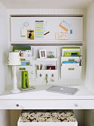 Organizing a small office Tips Like Thislots Of Slots On The Wall For Holding Stuff Gets It Off The Surface And Looks Less Cluttered Pinterest Diy Home Office Organizing Ideas Great Ideas Home Office