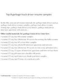 Class A Driver Sample Resume Podarki Co