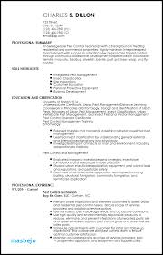 Pest Control Resume Examples Free Professional Resume Examples Resume