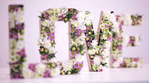 diy fl letter funny how flowers do that