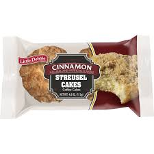 1 cake (3.52 oz) 370 cal. Little Debbie Snack Snack Cakes Little Debbie Snack Streusel Cakes Cinnamon Shop Priceless Foods