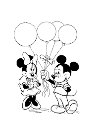 Mickey Minnie Ballons Coloriage Mickey Et Ses Amis Coloriages