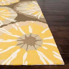 jaipur rugs barcelona starburst 7 6 x 9 6 indoor outdoor rug yellow gray ultimate patio