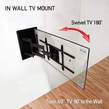 Tv wall mouns Swivel Recessed In Wall Tv Wall Mount Turn 60 Inch Tvs 90 Degrees To The Wall Walmart Pin By David Hayes On Dandm Enterprizes Pinterest Wall Mounted