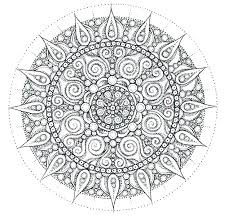Free Easy Mandala Coloring Pages