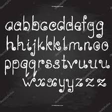 手書きの手紙英語のアルファベットの Chalk デザインベクトル