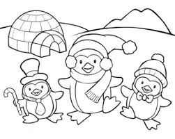 Small Picture Penguins Coloring Pages coloringsuitecom