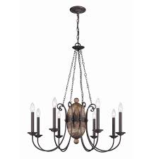 albero collection 8 light forged iron chandelier