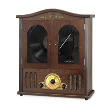 victrola wall mounted record player with cd and boombox