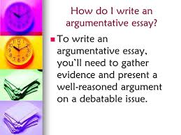 argumentative essays ms sanders rocks ms sanders rocks ppt  how do i write an argumentative essay