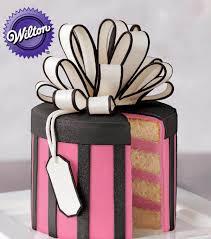 gift box cakes fondant cake tutorial