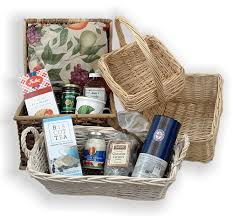create a cotted cream scones gourmet gift basket